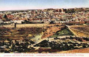Jerusalem from the Mount of Olives, Palestine, Early Postcard, Unused
