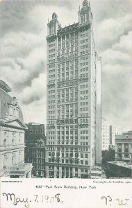 Park Row Building, Manhattan, New York City, 1902 Postcard