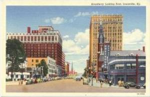 Broadway Looking East, Louisville, Kentucky, PU-1944