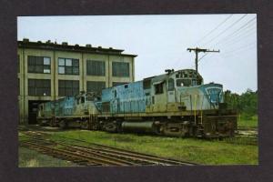 NY Lehigh & Hudson River Railroad Train Locos Warwick New York Postcard RR PC