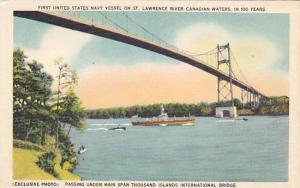 First United States Navy Vessel on St. Lawrence River, Ontario,  Canada, 00-10s