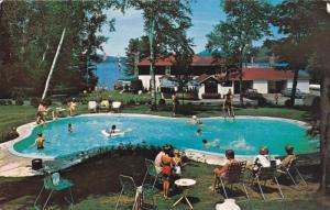 Swimming Pool , Lac Quimet Resort , ST. JOVITE , Quebec , Canada , 50-60s