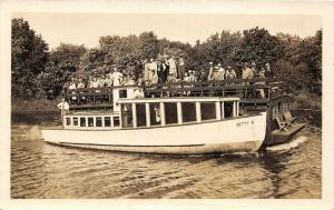 F35/ Curtis Michigan RPPC Postcard 1936 Betty B Tourist Boat