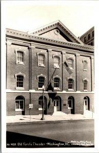 Vtg 1950s Old Ford Theater Washington DC RPPC Real Photo Postcard