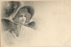 M.M. Vienne Series 112 Artist Signed R.R. Wichera (1899) Postcard (2)