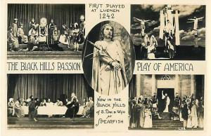 RPPC of Five Views Black Hills Passion Play of American Spearfish SD