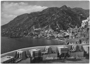 Amalfi vista dal Castello Saraceno, unused real photo, vera fotografia Postcard