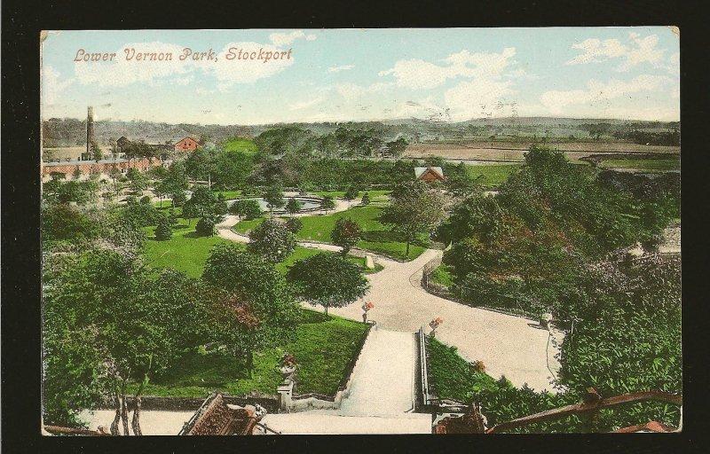 Postmark 1911 Toronto Ont Lower Vernon Park Stockport Valentine Postcard