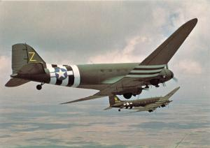 DOUGLAS C-47 SKYTRAIN SKYTROOPER (DAKOTA IN RAF SERVICE) CARGO AIRCRAFT POSTCARD