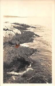 13042 Ocean and Rocks 1930´s  somewhere in New England real photo
