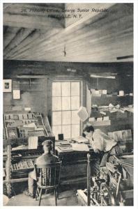 New York  Freeville    George Junior Republic  School Boys working  in Printi...