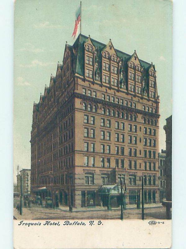 Divided-back HOTEL SCENE Buffalo New York NY AE2118