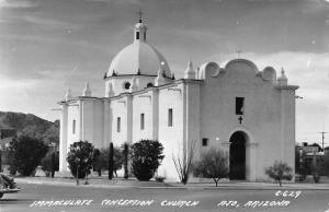 Ajo Arizona Immaculate Conception Church Real Photo Antique Postcard K18751