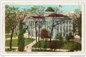 North Carolina Raleigh - State Capitol & Grounds , PU-1936