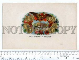 500064 PAIL WALRAFF RHEYDT Vintage embossed cigar box label