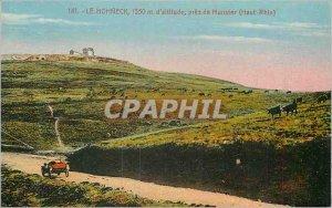 Old Postcard Le Hohneck 1350 m altitude near Munster (Haut Rhin)