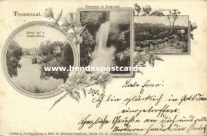 south africa, TRANSVAAL, Multiview, Waterfall, Ox Cart, Tembe River (1908)
