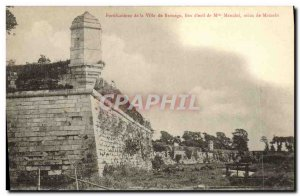 Old Postcard Fortifications of the City of Brouage place of exile Miss Mancin...