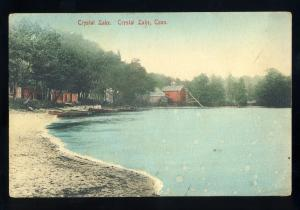 Crystal Lake, Connecticut/CT/Conn Postcard, View Of Shoreline & Houses