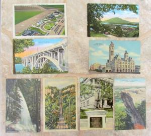 LOT OF 8 VINTAGE POSTCARDS - VIEWS OF TENNESEE