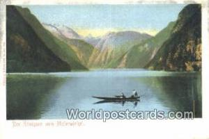 Malerwinkel Germany, Deutschland Postcard Der Konigsee Malerwinkel Der Konigsee