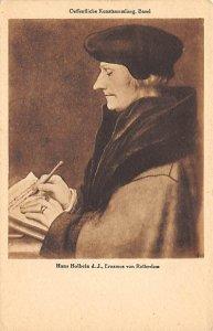 Art Post Card,Old Vintage Artist Postcard Hans Holbein Rotterdam Unused