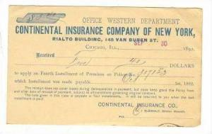 Continental Insurance Company of New York, Rialto Bldg, PU-1892   New York City