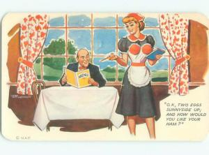Pre-1980 Risque Comic WAITRESS WITH SEXY UNIFORM AB6922