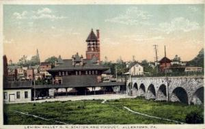 Lehigh Valley Railroad Station, Allentown, Pennsylvania, PA, USA Railroad Tra...