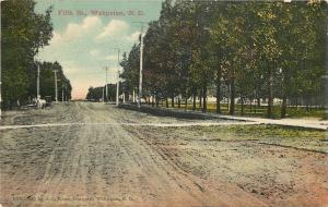 Wahpeton North Dakota~Fifth Street~Park~Homes~White Horse on Dirt Road~1909