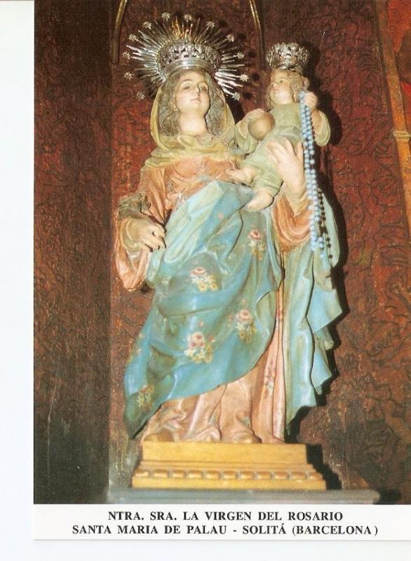 Postal 027234 : Ntra. Sra. La Virgen del Rosario, Santa Maria de Palau - Soli...