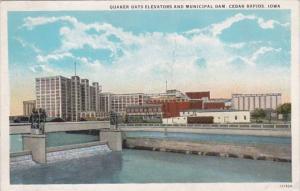 Iowa Cedar Rapids Quaker Oats Elevators and Municipal Dam Curteich