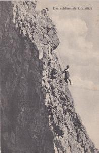 Men Climbing a sheer cliff, 00-10s #7 ; Pfriemeswand Das Schlimmste Gratstuck