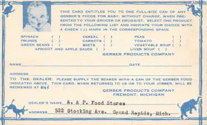 Grand Rapids MI-Fremont A&P Grocery~Free Gerber Baby Food 1938 Bob Waltzer