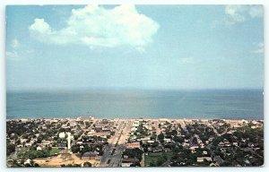 Postcard DE Rehoboth Beach Airview of the Business District D11