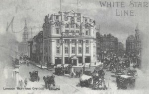Postcard Oceanic House Offices of the White Star Line London 1906 repro 78Y