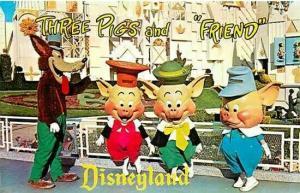 CA, Anaheim, California, Disneyland, Three Little Pigs, No.  DT-35927-C