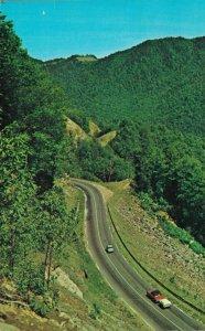 USA The Transmountain Highway Descending Into North Carolina Postcard 07.32