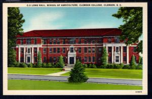 Long Hall,School of Agricultur,Clemson College,Clemson,SC