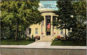 c1940s  Governor's Mansion, Jackson, Mississippi Postcard