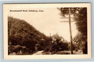 Salisbury CT-Connecticut, Barackmatiff Road, Vintage Postcard