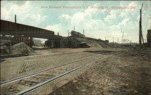 Wilmington DE Elevated Pennsylvania RR at Fourth Street c1905 UDB Postcard
