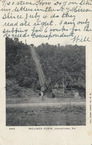 JOHNSTOWN, Pennsylvania, PU-1905; Inclined Plain, Railroad Track