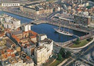Belgium Oostende Aerial View