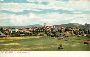Vintage Postcard Schongau Overview Bavaria Germany