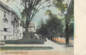 East Main Street Scene in Peru Indiana IN 1907 Divided Back