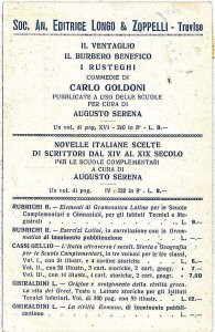 CARTOLINA d'Epoca - TREVISO Città: PUBBLICITARIA 1925