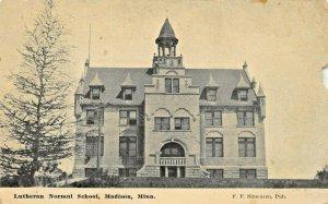 MADISON MINNESOTA~LUTHERAN NORMALSCHOOL~1912 F F SIMENSEN POSTCARD