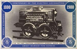 Ernst Werner Von Siemens Victorian Berlin 1879 1st Train Postcard