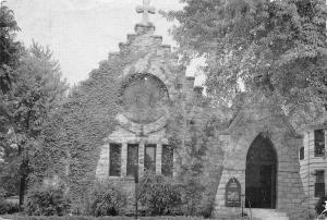 Carthage Missouri~Grace Church~Episcopal~1940s B&W Postcard
